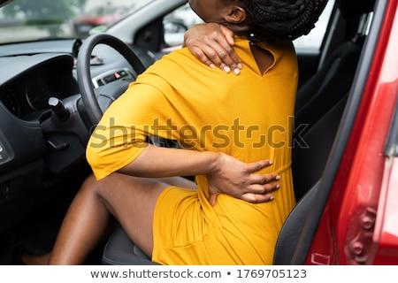 ドライバ 首 けが 悪い 運転 女性 ストックフォト © AndreyPopov