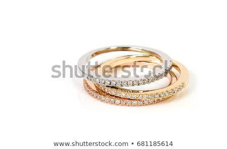 Gold and silver rings with diamonds Stock photo © oneo