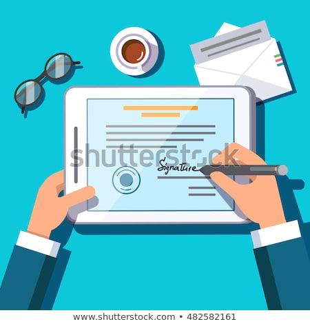 Eletrônico assinatura vetor metáfora tecnologia operação Foto stock © RAStudio