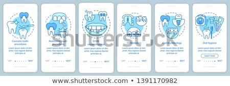 косметических лечение зубов приложение интерфейс шаблон Отбеливание зубов Сток-фото © RAStudio
