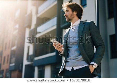 Сток-фото: бизнесмен · зрелый · изолированный · белый