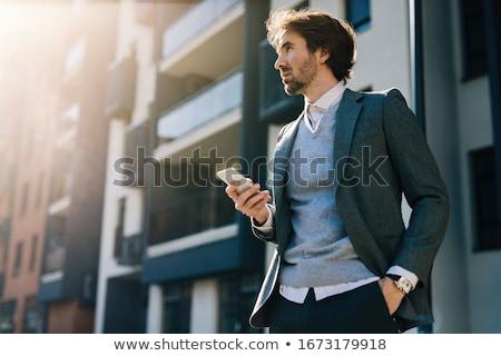 zakenman · volwassen · geïsoleerd · witte - stockfoto © lisafx