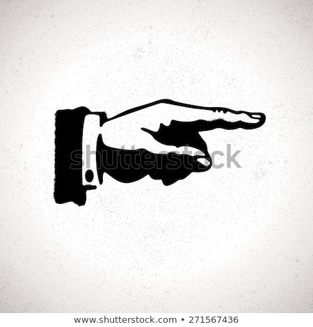 mão · indicação · direção · isolado · branco · mulheres - foto stock © get4net