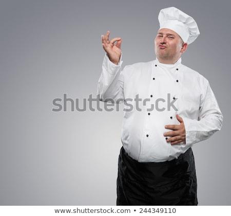 gordura · chef · imagem · engraçado - foto stock © DamonAce