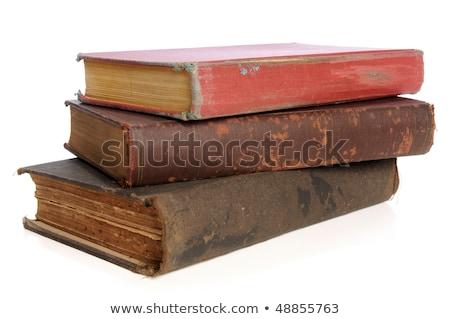 Antieke boeken samen Geel groene Stockfoto © duoduo