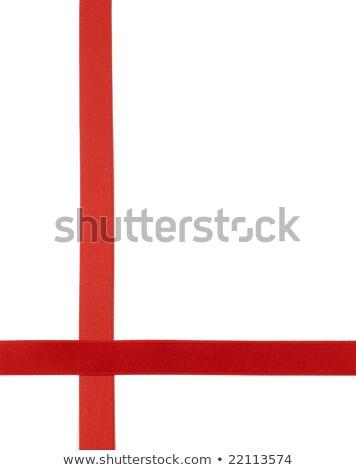 fita · burocracia · atravessar · branco · fundo · vermelho - foto stock © farres