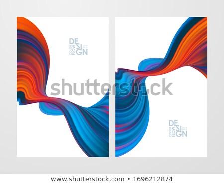 Marmer 3D abstractie futuristische plaat ontwerp Stockfoto © FransysMaslo