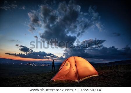 Sátor hegyek Kaukázus régió égbolt sport Stock fotó © BSANI