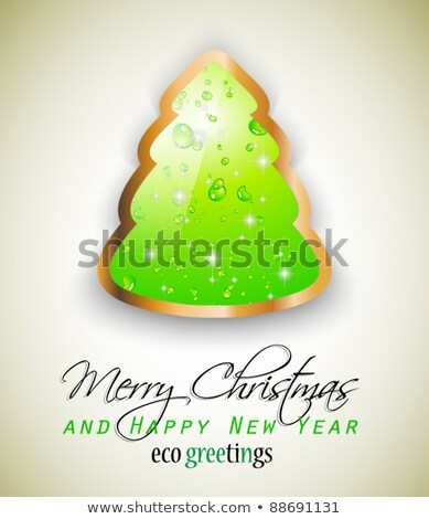 Elegante eco verde árbol de navidad naturaleza respeto Foto stock © DavidArts