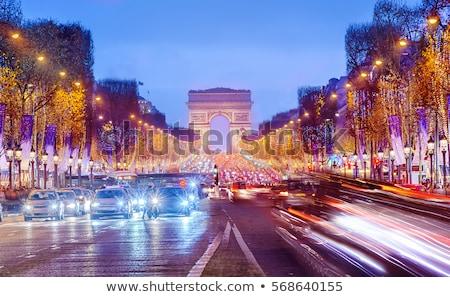 Párizs · karácsony · Franciaország · égbolt · város · templom - stock fotó © dutourdumonde