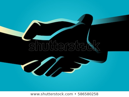 Two hands unite with eachother in symbol stock photo © vetdoctor