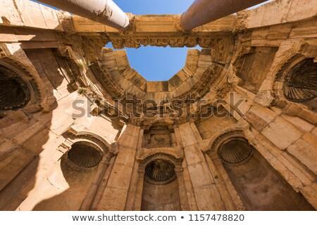 храма Blue Sky Ливан древних римской колонн Сток-фото © Anna_Om