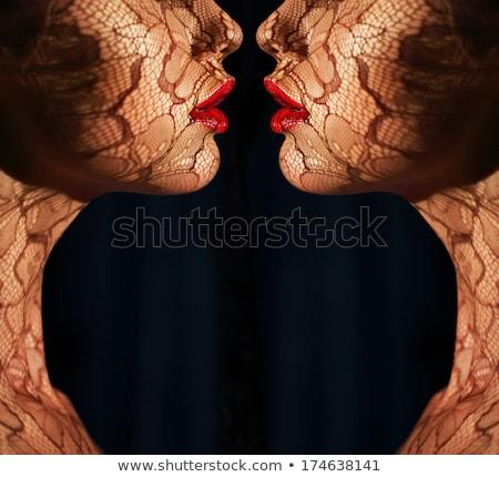 gorgeous woman with bodyart Stock photo © zastavkin