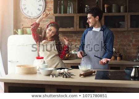 keuken · schort · ingrediënten · witte · voedsel - stockfoto © photography33