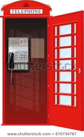 Britannico pubblico telefono tipico Londra Regno Unito Foto d'archivio © ruigsantos
