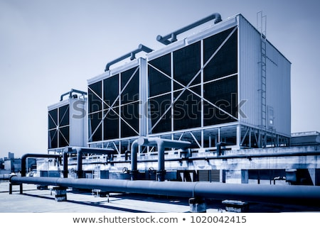 cooling towers stock photo © bobhackett