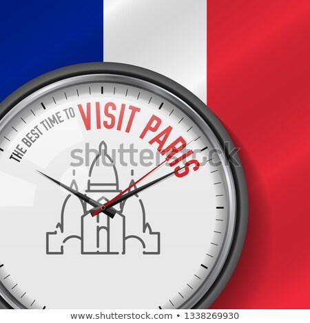 O melhor Paris vistas edifício abstrato projeto Foto stock © isveta