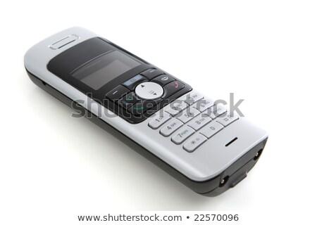 wireless phone set isolated over white Stock photo © keko64