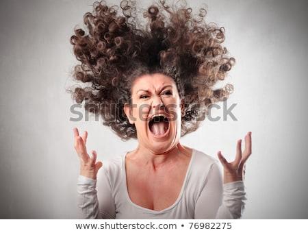 hurlant · folle · femme · sur · autre · modèle - photo stock © pdimages