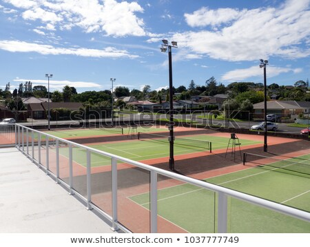 Resort tenis club deporte árboles ejercicio Foto stock © cmcderm1
