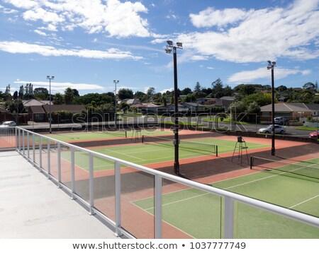 Resort tennis club sport bomen oefening Stockfoto © cmcderm1