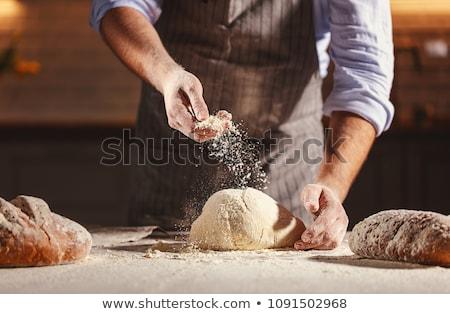 Gebakken brood tabel doek textuur Stockfoto © stevemc
