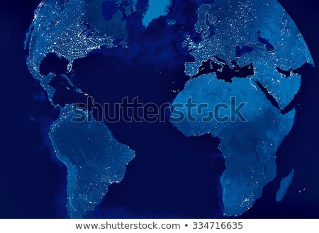 earth model from space asia view stock photo © samopauser