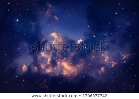 Сток-фото: аннотация · ночь · облака · звезды · ночное · небо · луна