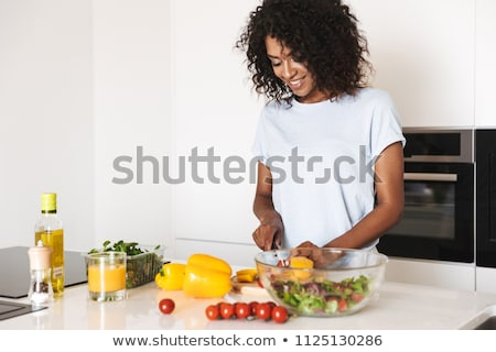 black woman cooking Stock photo © photography33