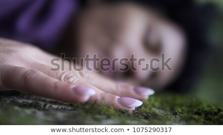 girl lying in forest stock photo © aliftin