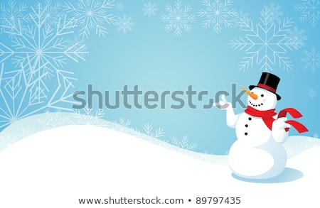 Blue christmas card with copy sace. EPS 8 Stock photo © beholdereye