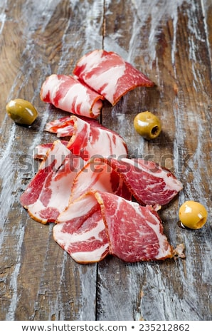 Dried pork collar salami Stock photo © mythja