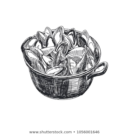 cooking pot with mussels Stock photo © M-studio