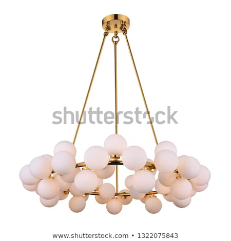 Vintage chandelier isolated on pink Stock photo © lordalea
