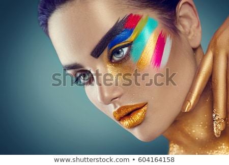 lady with golden eyes Stock photo © photography33