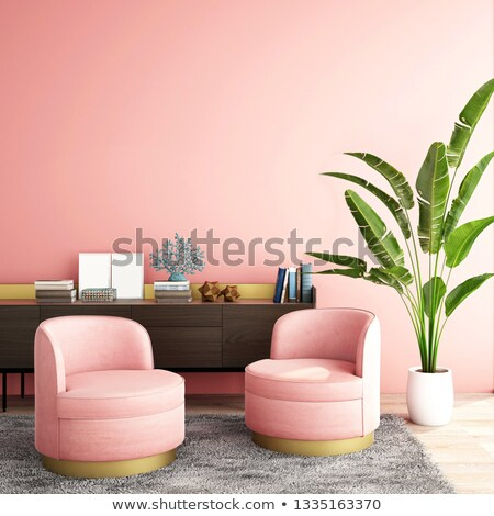 Stock photo: Seating area of a luxury living room