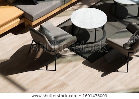 kortárs · asztal · zárva · ajtó · terv · üveg - stock fotó © 3523studio