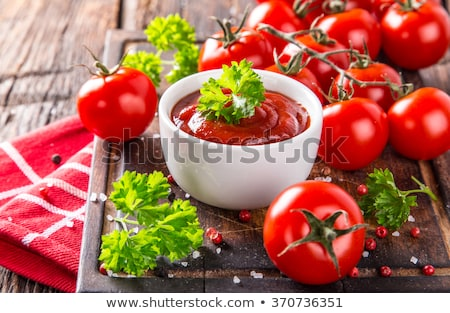 Paradicsom leves friss fokhagyma konyha gasztronómia Stock fotó © M-studio