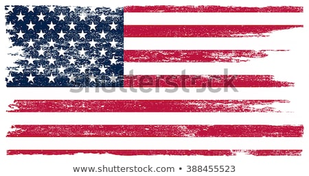 sujo · bandeira · americana · ilustração · fronteira · festa · bandeira - foto stock © vectomart