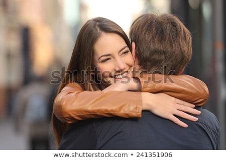 jonge · vrouw · vriendje · kijken · onzekerheid · vrouw - stockfoto © photography33