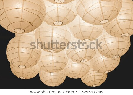Stockfoto: Chinese · plafond · lampen · landschap · decoratief