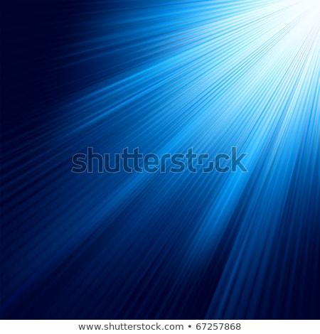 Blue luminous rays. EPS 8 Stock photo © beholdereye