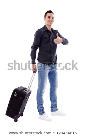 Business Travel Thumbs Up - Full Body Stock photo © lisafx