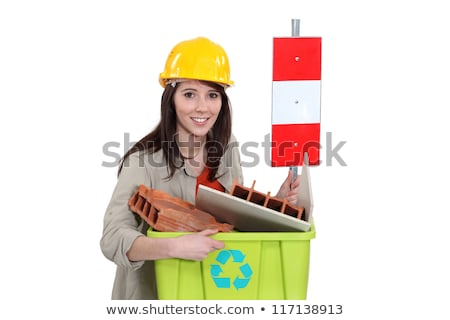 Tradeswoman taking out the recycling Stock photo © photography33