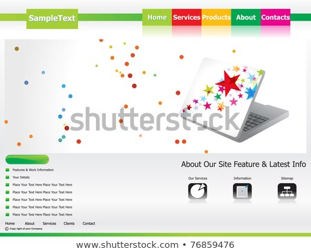 abstract eco based web site template Stock photo © pathakdesigner