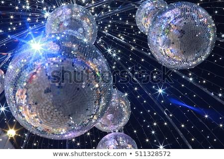 Beautiful mirror ball on a Christmas tree stock photo © suliel