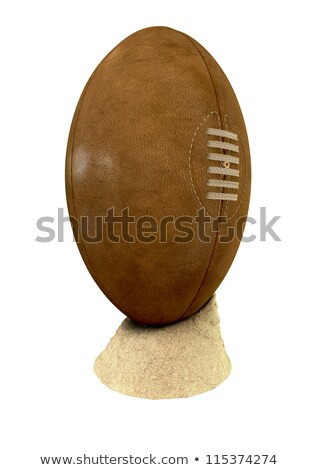 Old Classic Retro Rugby Ball On Sand Stock photo © albund