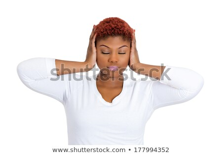Woman blocking her ears Stock photo © photography33