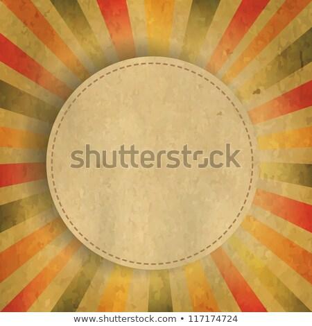 retro · zeventig · vierkante · grijs · witte · ontwerp - stockfoto © adamson