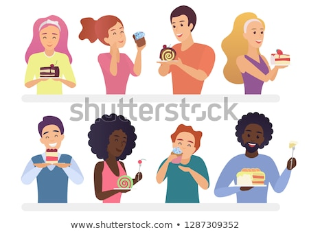 Woman eating a piece of cake Stock photo © photography33